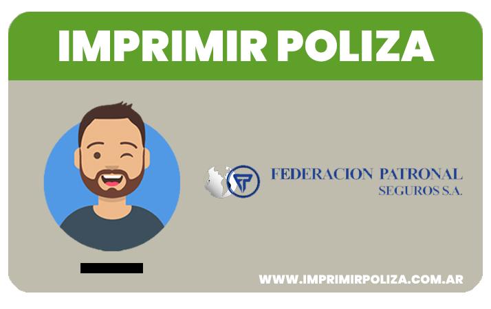 imprimir poliza federación patronal