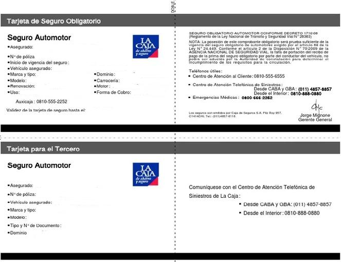 tarjeta de seguro obligatorio seguros la caja