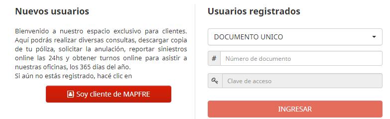 como registrarse en seguros mapfre