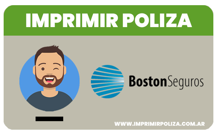 imprimir la poliza de boston seguros