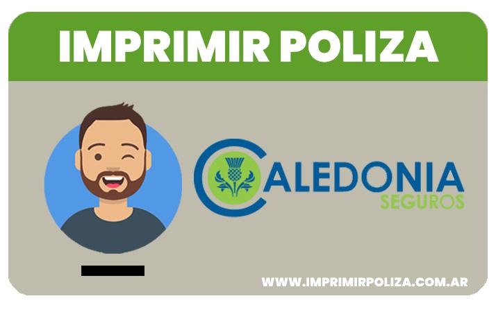 imprimir poliza caledonia seguros