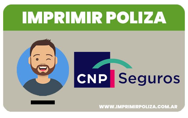 imprimir la poliza de seguro cnp