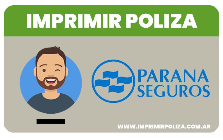 imprimir poliza parana seguros