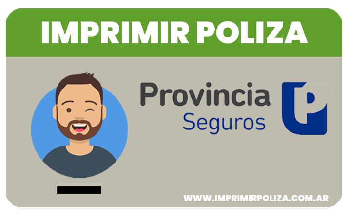 imprimir poliza provincia seguros