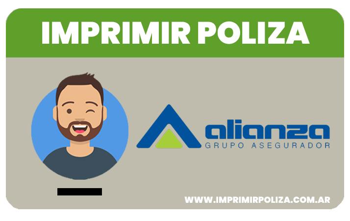 imprimir poliza de alianza seguros