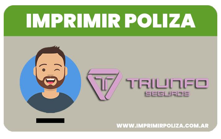 imprimir poliza triunfo seguros